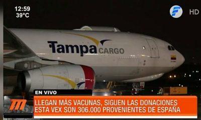 Llegan más vacunas anti COVID19 donadas por España