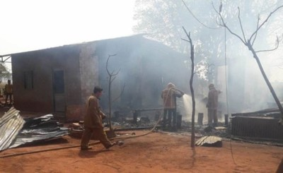 Incendio consume vivienda de un colono brasileño en Tavapy