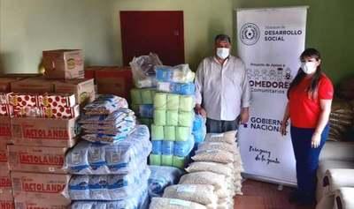 Organizaciones de ollas populares de Caazapá reciben alimentos