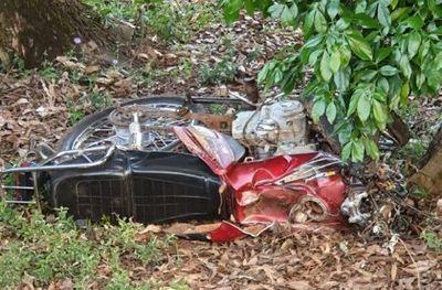 Un motociclista muere tras chocar contra un automóvil en Coronel Bogado