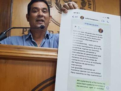 """Martín Arévalo habla de una """"mafia"""" en Aduanas"""