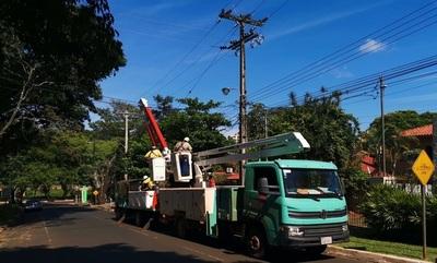 Tras fuerte temporal: ANDE se compromete a restaurar el servicio a partir del mediodía