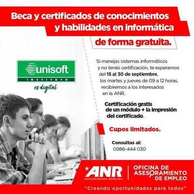 ANR ofrece becas y certificación en informática para personas sin empleos