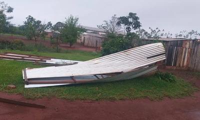 Temporal dejó cuantiosos daños en Itapúa y Alto Paraná