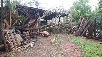 Fuertes lluvias dejaron cuantiosos daños en Itapúa y Alto Paraná – Prensa 5