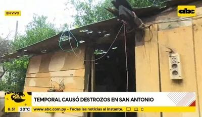 Damnificados por temporal en San Antonio urgen asistencia