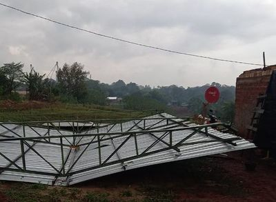 Un herido, destrozos y cortes de energía eléctrica a causa del temporal en el Este