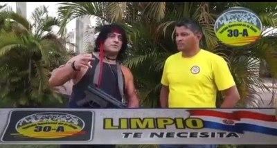 """Peque Benítez quiere que el """"Rambo paraguayo"""" traiga seguridad a Limpio (video)"""