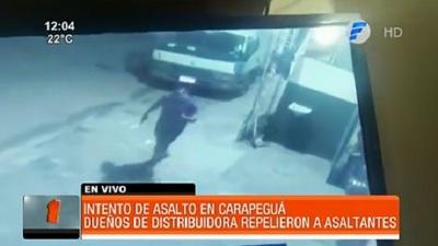 Propietarios de distribuidora repelen a tiros a asaltantes en Carapeguá