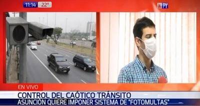 Municipalidad de Asunción analiza aplicación de fotomultas en el tránsito