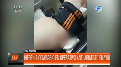 Hieren a comisario en operativo antiabigeato en Yhú