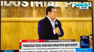 Cartes destaca atractivos y riquezas de Paraguay para las inversiones