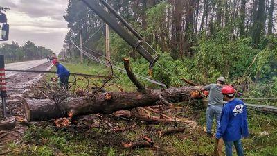 Fuerte tormenta destruyó viviendas y cultivos en Itapúa y Alto Paraná