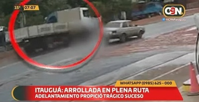 Mujer fallece arrollada por camión en Itauguá