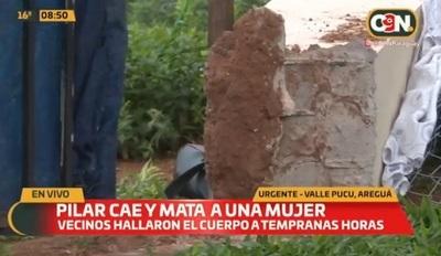 Mujer muere aplastada por pilar de hormigón en Areguá
