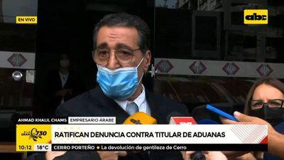 """Importador ratifica denuncia contra director de Aduanas: """"No hubo contrabando; esto fue un secuestro"""""""