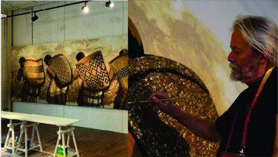Koki Ruiz monta obra de arte en expo de Dubái