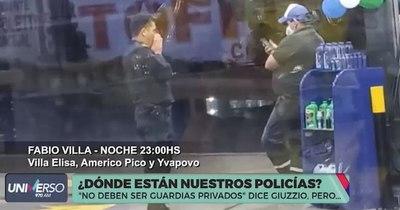 La Nación / Policías custodian locales privados mientras Giuzzio niega dicha práctica