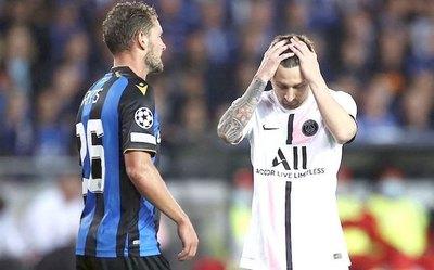 Crónica / Brujas frena al PSG de Messi, Ney y Mbappé