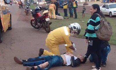 Motociclista arrolla a transeúnte y ambos resultan con heridas graves – Diario TNPRESS
