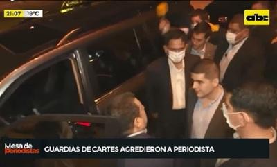 "Revelan video de ""amedrentamiento violento"" de guardias de Cartes"