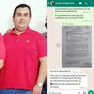 Supervisor aún no tomó intervención en proselitismo en escuela de Pedro Juan Caballero
