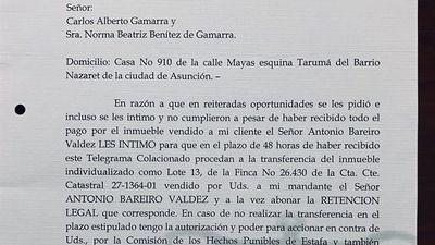 ¡Escándalo! Demonio Bareiro reclama propiedad al Colorado Gamarra