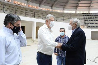 Principales dirigentes de la FPFS visitaron el estadio municipal de PJC