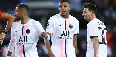 Duras críticas para el paso en falso del tridente de Messi, Neymar y Mbappé en el debut del PSG en la Champions League