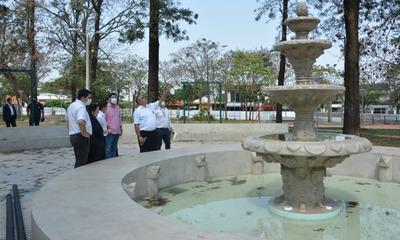 Habilitarán obras de mejoras en la Plaza San Roque de Coronel Oviedo