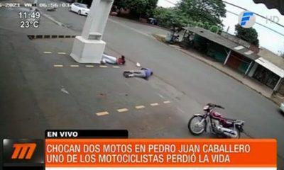 Terrible choque entre motociclistas deja un fallecido