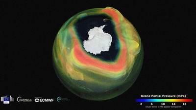 Científicos advierten que el agujero de la capa de ozono de este año es más grande que la Antártida