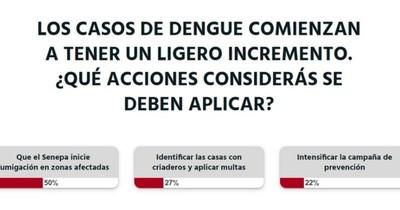 La Nación / Votá LN: Senepa debe fumigar las zonas afectadas por el dengue, según lectores