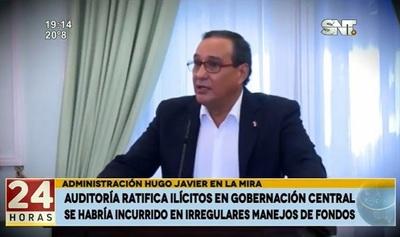 Auditorías confirman irregularidades en administración de Hugo Javier