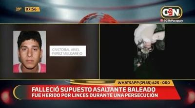 Joven muere tras ser herido por agentes Lince en persecución