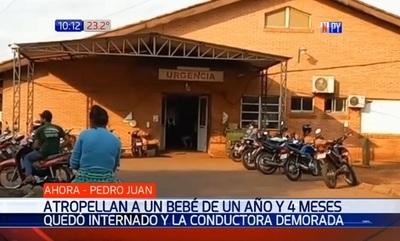 Bebé de un año sufre heridas luego de ser arrollado en Pedro Juan