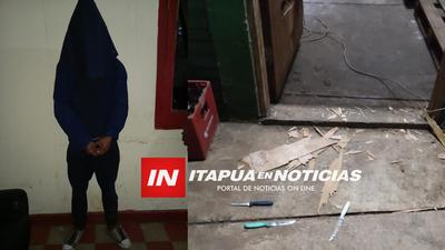 POLICÍAS DE LA COMISARÍA SEGUNDA DETIENEN A DOS HOMBRES EN FLAGRANTE ACCIÓN DE HURTO