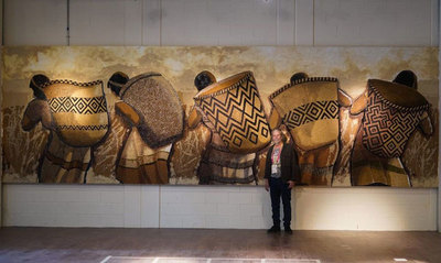 El artista paraguayo Koki Ruiz se destaca en la Expo Dubái