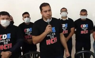 """Prieto denuncia persecución y convoca a marcha """"CDE NO ES DE HC"""""""