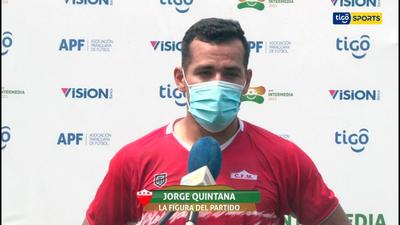 Jorge Quintana, la figura del partido