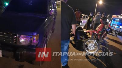 ACCIDENTE SOBRE RUTA PY 1 PASANDO EL PUENTE QUITERIA.