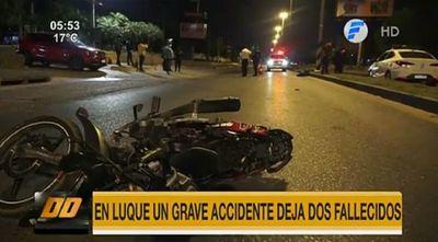 Dos fallecidos tras accidente de tránsito en Luque
