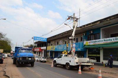 ANDE anuncia cortes programados de electricidad en varias zonas de Central y Asunción, este sábado