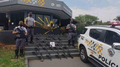 Arsenal: Paraguayo detenido en São Paulo con 23 rifles y 10 pistolas