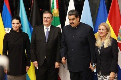 Maduro arribó a México para cumbre de la Celac en su primera salida desde el 2020