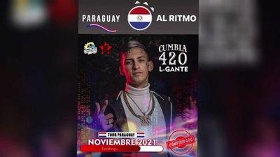 Crónica / ¡L-Gante en Paraguay! El cumbiero anunció show en noviembre