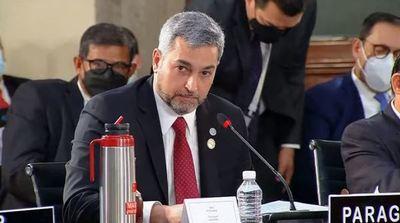 Abdo reafirma que no reconoce al régimen de Maduro
