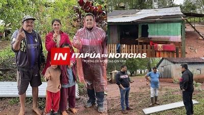 ASISTEN A FAMILIAS AFECTADAS POR EL TEMPORAL EN CARLOS A. LÓPEZ.