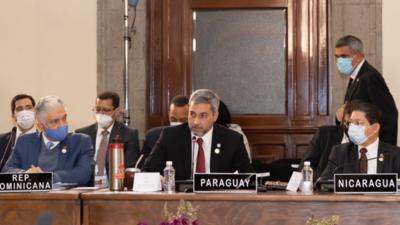 Mario Abdo desconoce a gobierno de Maduro en cumbre regional