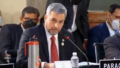 Abdo Benítez reafirma su rechazo al mandato de Nicolás Maduro durante cumbre